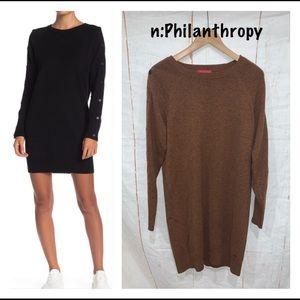 n:PHILANTHROPY Zorian Snap Sweater Dress Sz S NWOT